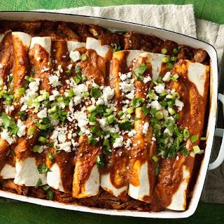 Pulled Pork Tomato Mole Enchiladas Recipe