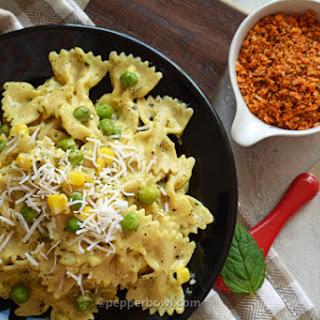 Creamy Corn Bow tie Pasta