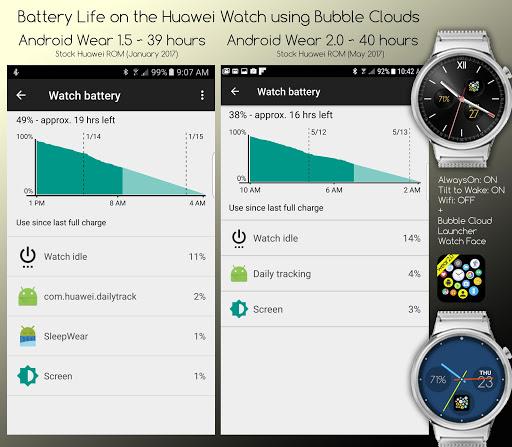 Bubble Cloud Wear Launcher Watchface (Wear OS) 9.39 screenshots 12