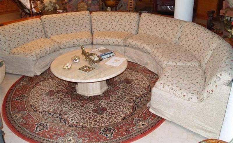 Funda a medida para sofá Rinconera con diseño curvo