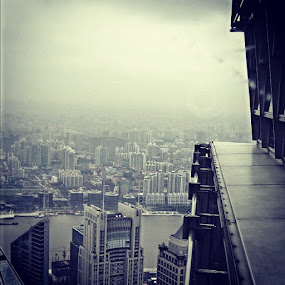 Shanghai from up high by Ashley Humphrey - Instagram & Mobile Instagram ( skyscraper, pwcwindow, cityscape, shanghai, china )