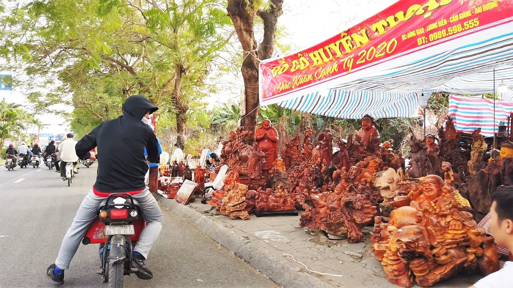 Chợ hoa Tết 2020 đường Lê Hồng Phong ở Hải Phòng 14