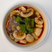 Hot & Sour Mushroom Soup (Tom Yum)