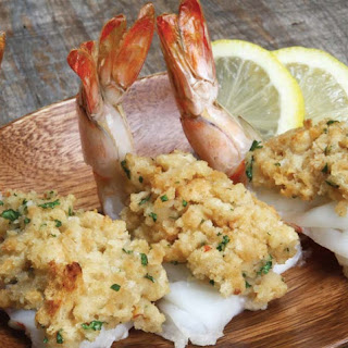 Stuffed Butterflied Shrimp