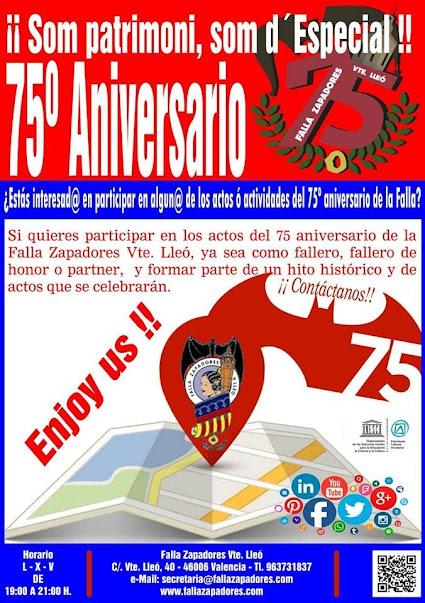 75 Aniversario Falla Zapadores.