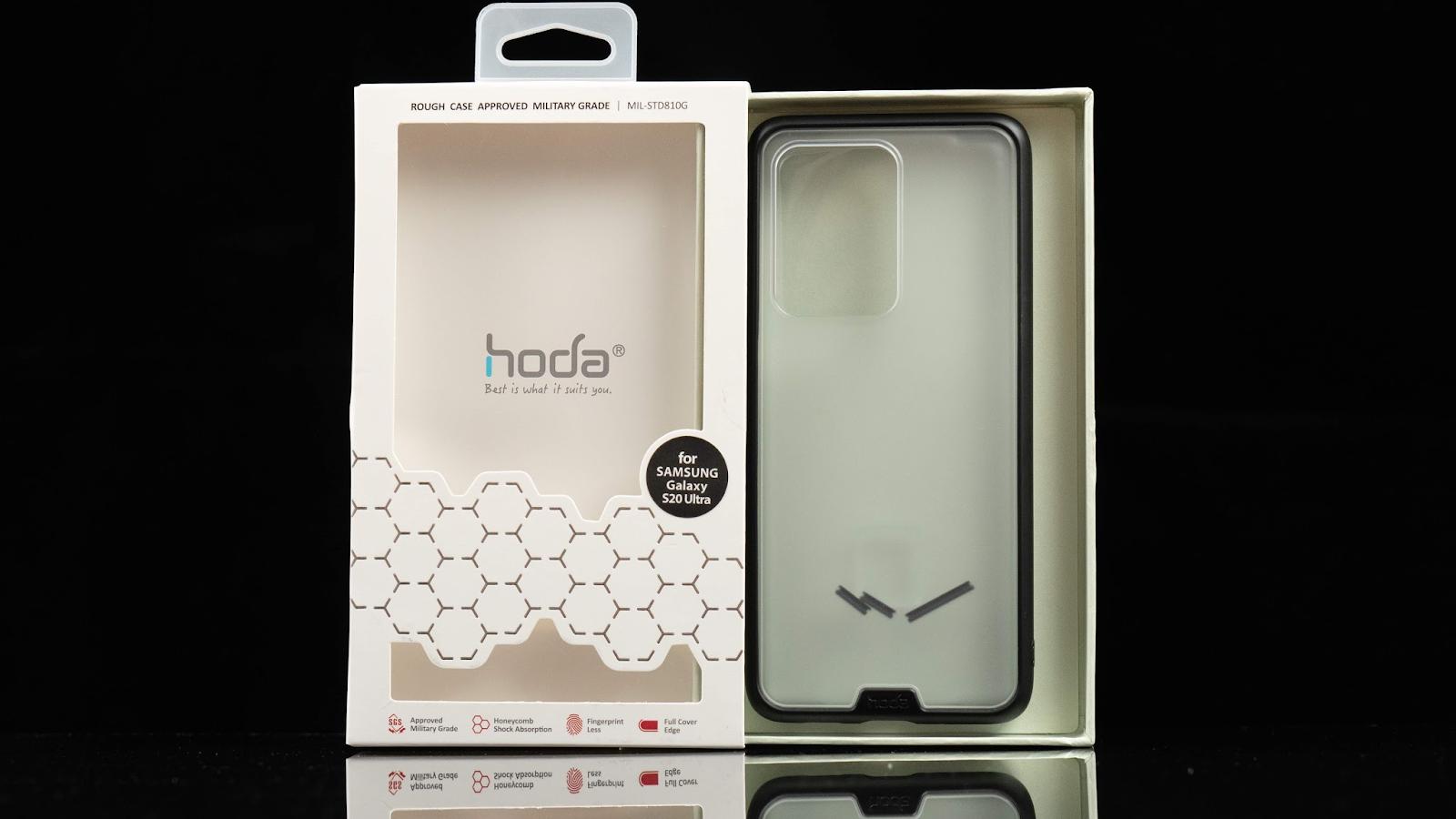 全面防護 hoda Galaxy S20 系列「柔石軍規防摔保護殼」、「3D UV 膠玻璃保護貼」全色系 科技狗