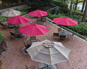 Photo: Project 365 Day 192-Red And Tan Umbrellas