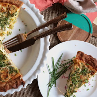 Chive, Leek And Cheese Quiche