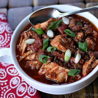Slow Cooker Pork Ranch Chili.