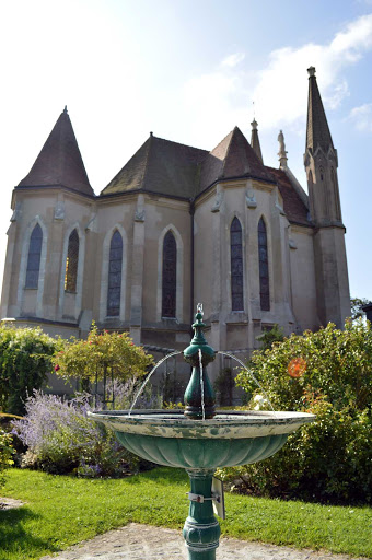 Our Lady of the Flots (Chappelle Notre Dame des Flots) stands on cliff of Sainte-Adresse near the port of Le Havre, France.