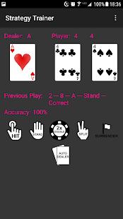 Blackjack Strategy Trainer - náhled