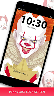 Pennywise Lock Screen - Killer Clown Locker - náhled