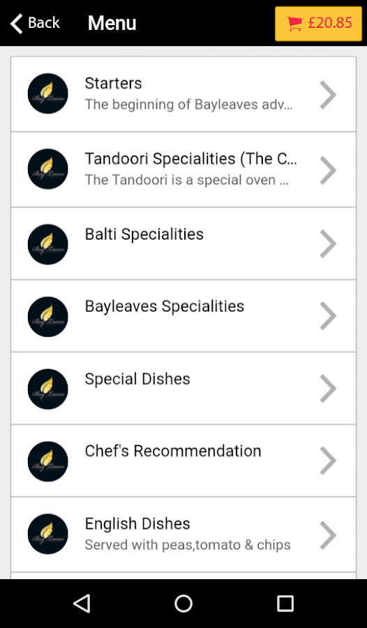 Bay Leaves Restaurant- screenshot