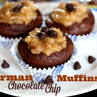 German Chocolate Chip Muffins.