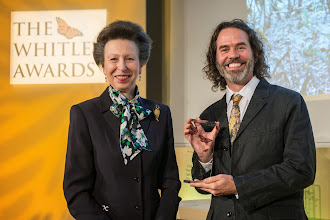 Photo: The Princess Royal and 2015 Whitley Awards recipient Aranaud Depbiez, Brazil at The Royal Geographical Society, London, 29th April 2015