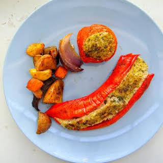 Tofu Stuffed Peppers.