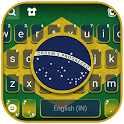 Brazilian Flag Keyboard Background icon