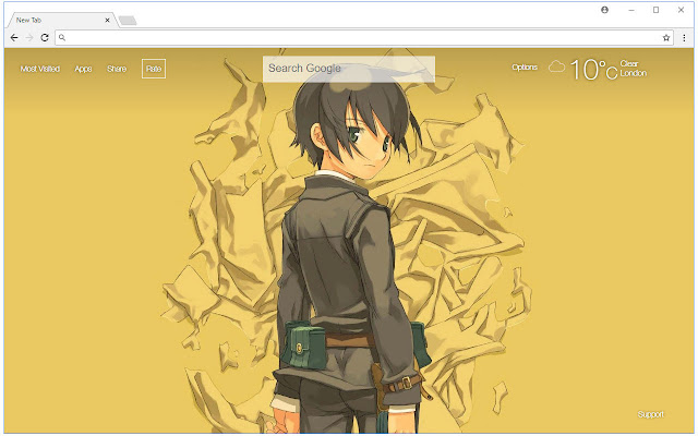 Kino no Tabi HD Wallpaper New Tab Themes