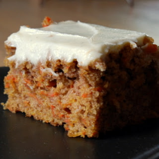 Lower Fat Carrot Sheet Cake