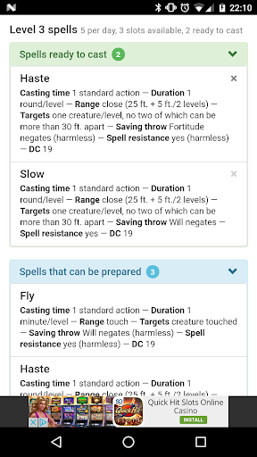 Download Spell Tracker: Pathfinder Google Play softwares