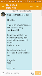 EmailToSms: Email To SMS - náhled