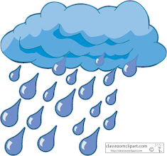 Photo: Clouds with Rain Drops Clipart