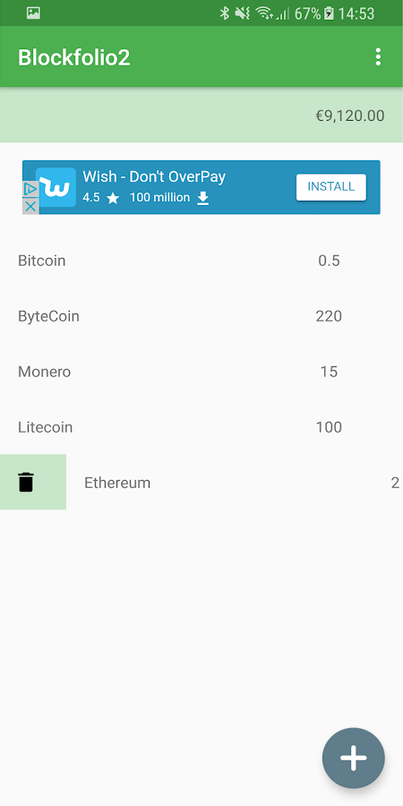 Blockfolio2- screenshot