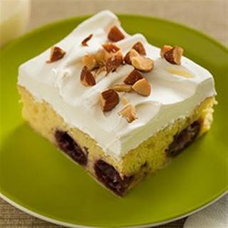 Almond Cherry Tres Leches Cake