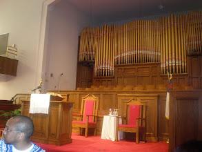 Photo: inside the church sanctuary