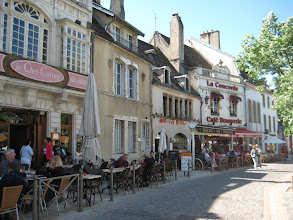 Photo: Street scene in Beaune.  This is the Burgandy wine region but our tasting here was the least interesting of the trip.