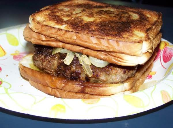 Grilled Grilled Cheese Burgers With Sauteed Onions Recipe