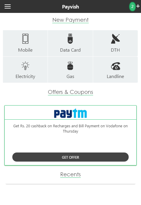 Payvish Talkcharge Recharge- screenshot