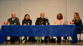 Reunión entre Lucas Mayo, Rosa Mª Cano, Richard Hill y Charmaine Arbouin.