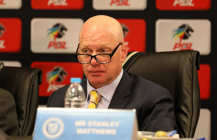 SuperSport United CEO, Stan Matthews during the 2018 Premier Soccer League at Southern Sun Hotel Airport, Johannesburg on 16 April 2018.