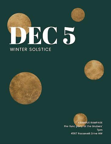 Winter Solstice - Flyer template