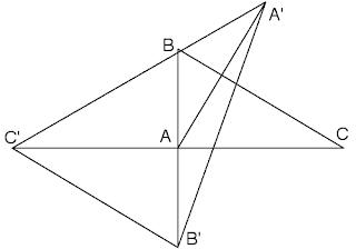 Puntos simétricos y triángulo
