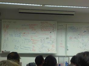 Photo: no es un graffiti, es en clase de dirección estratégica de marketing. Asi se explica en Harvard :)