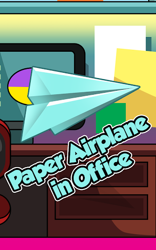 Paper Airplane in Office