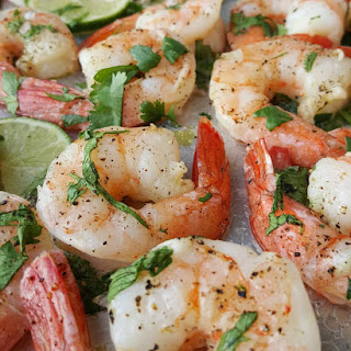 Cilantro-Lime Shrimp.