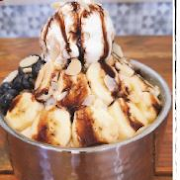 Banana-Chocolate Shaved Ice