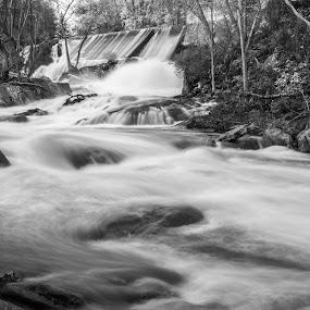 Bulls Bridge, Connecticut - Rapids and Waterfalls by Sandeep Kochar - Landscapes Waterscapes