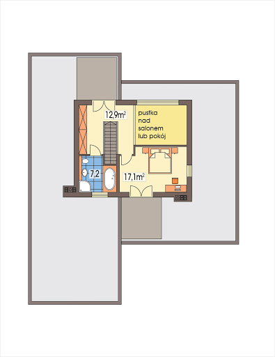 Montana 1 wersja A - Rzut piętra