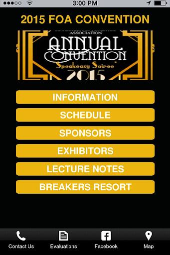 2015 FOA Convention