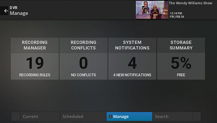 Manage DVR storage on legacy Fiber TV