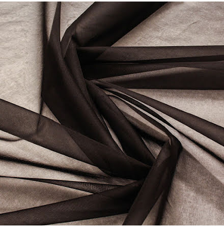 Sidenorganza - svart