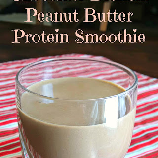 Chocolate Banana Peanut Butter Protein Smoothie.