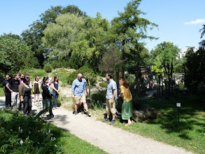 Photo: Assembling for a group photo in the Botanical Garden.