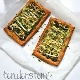 Tenderstem & Camembert Croissant Tarts