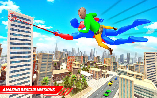 Flying Police Robot Rope Hero: Gangster Crime City apkmr screenshots 9