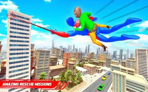 Flying Police Robot Rope Hero: Gangster Crime City 7